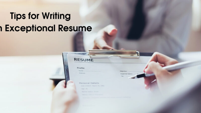 Strategies for Writing an Outstanding Resume